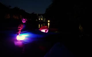 Paddling Light – canoeing at night!